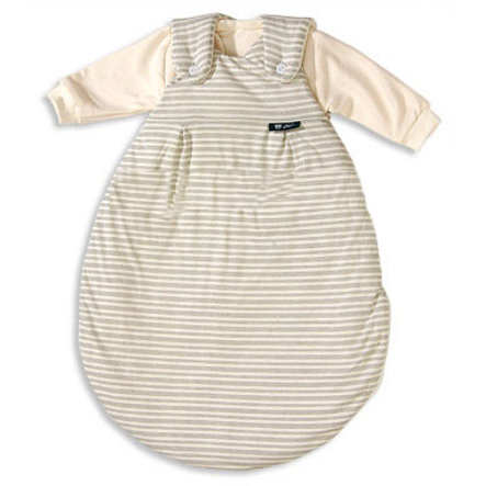 ALVI 2 Piece Baby Mäxchen Sleeping Bag System - Beige Stripes (105/6) Size: 44 cm