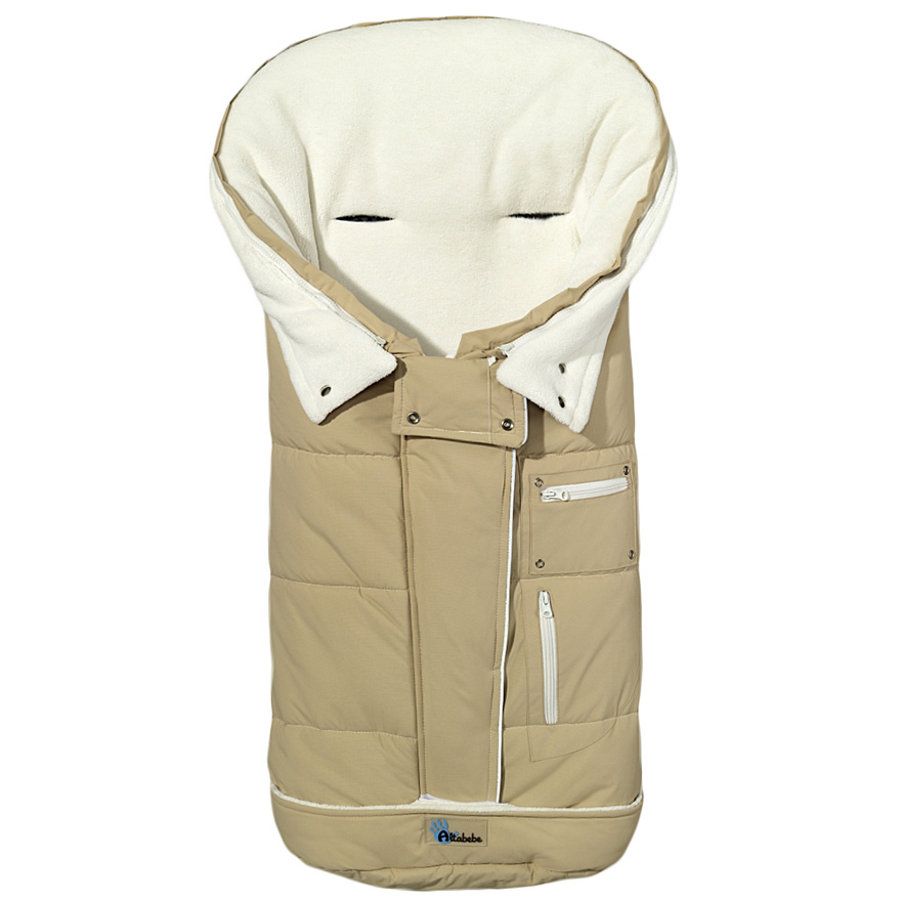 Altabebe Coprigambe a sacco invernale Klimaguard beige-whitewashed