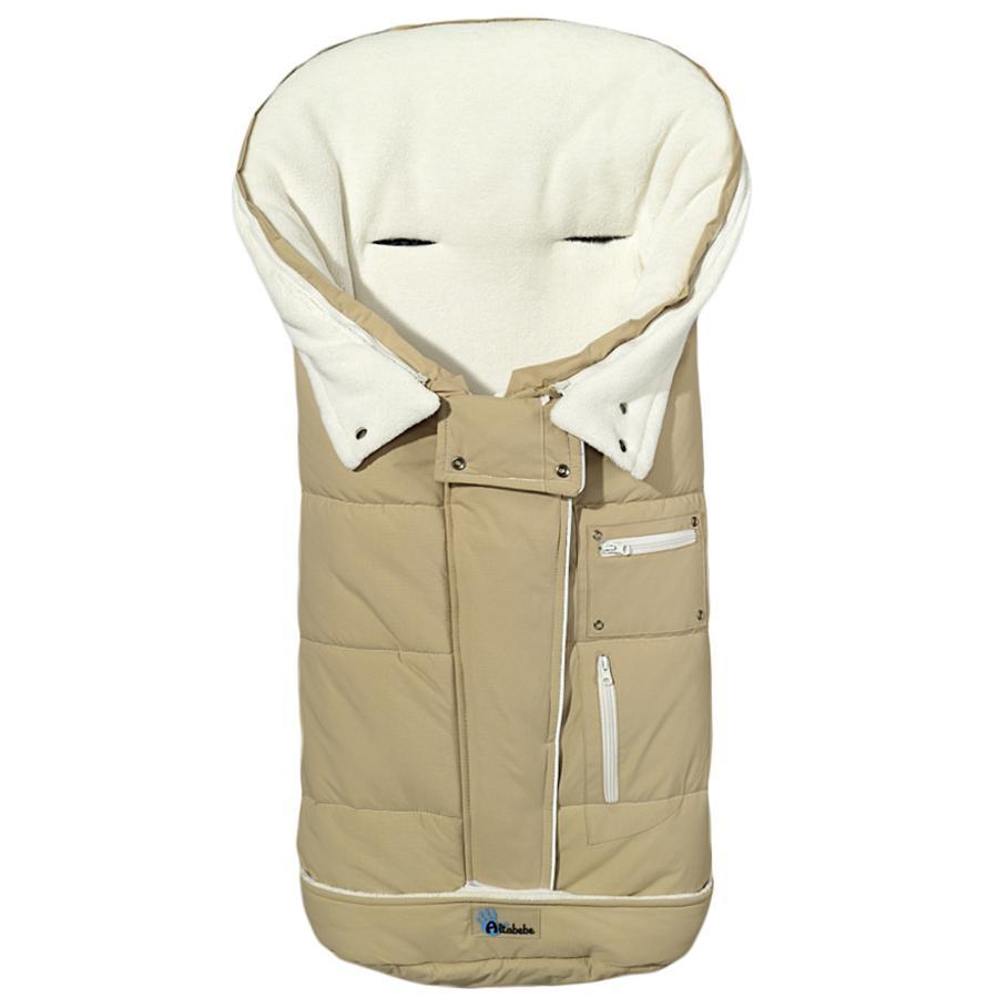 Altabebe Winterfußsack Klimaguard beige-whitewas