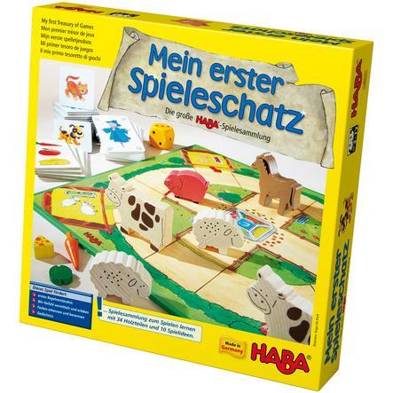 HABA Mon premier coffre à jouets - La grande collection des jeux HABA 4278