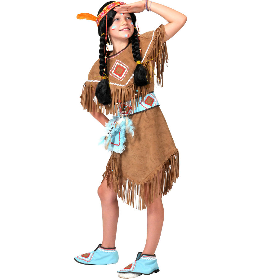 Funny Fashion Karneval Kostyme Indianer Jente Anila