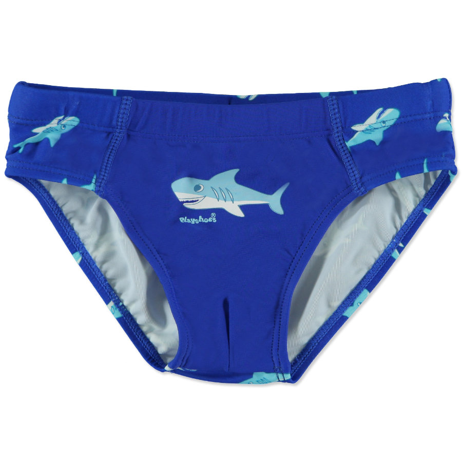 PLAYSHOES Boys UV protection Bathing Suit SHARK, navy