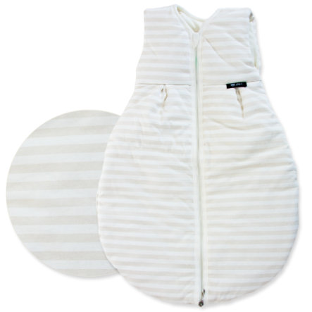 ALVI Thermal Baby Mäxchen Squiggles Sleeping Bag - Stripes Beige  - 70 cm