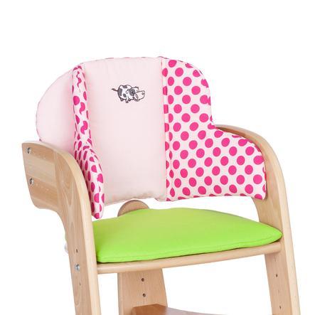 HERLAG Polstrování do židličky Tipp Topp Comfort IV EMMA zeleno/růžové s puntíky