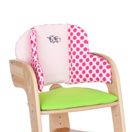 HERLAG Seat Pad for Tipp Topp Comfort IV EMMA green/pink dots