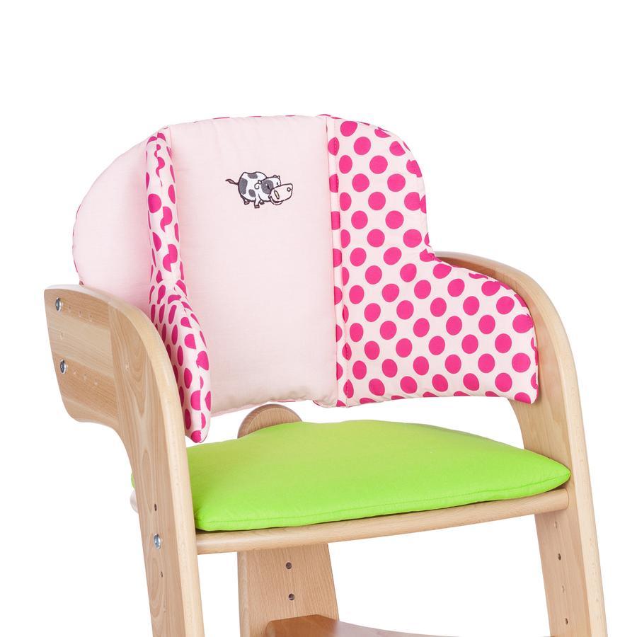 HERLAG Réducteur de siège pour chaise haute Tipp Topp Comfort IV EMMA vert/rose à pois