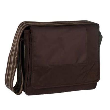 LÄSSIG Skötväska Messenger Bag Classic Design Patchwork choco