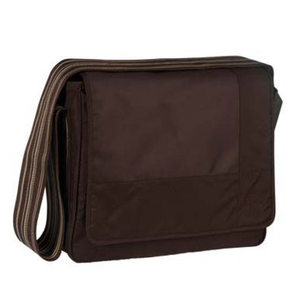LÄSSIG Wickeltasche Messenger Bag Classic Design Patchwork Choco