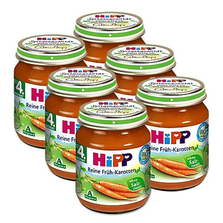 HiPP Bio Reine Früh-Karotten 6 x 125 g