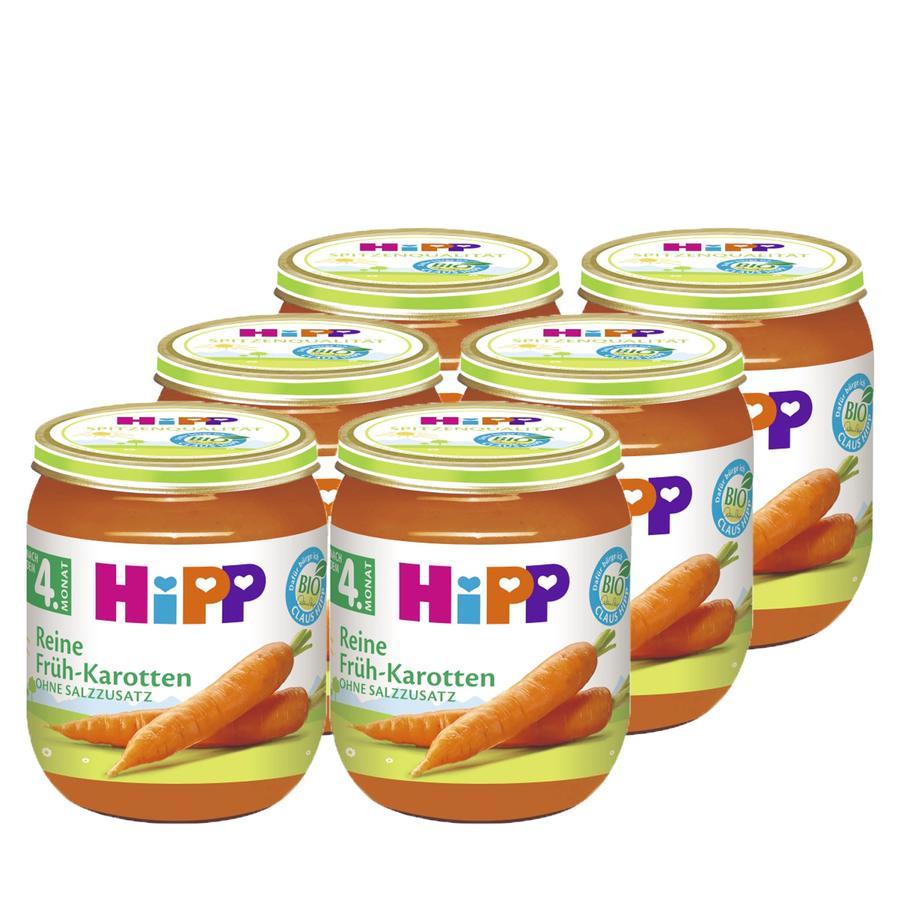 HIPP Bio Reine Früh-Karotten 6x125g