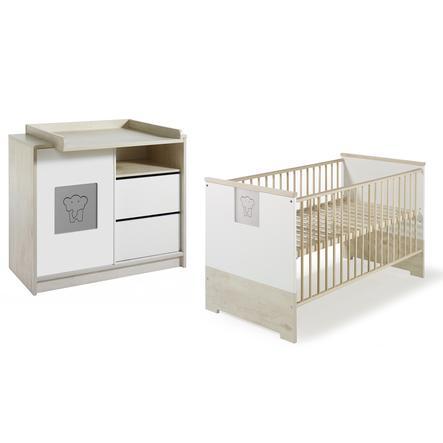 SCHARDT Eco Slide Kit chambre enfant avec lit kit de transformation commode et plateau