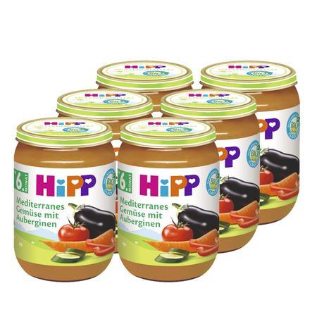 HIPP Bio Mediterranes Gemüse mit Aubergine 6 x 190g