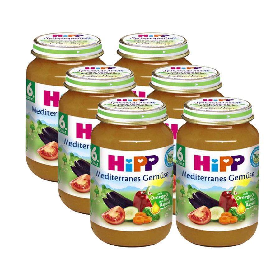 HIPP Bio Mediterranean Vegetables 6 x 190g