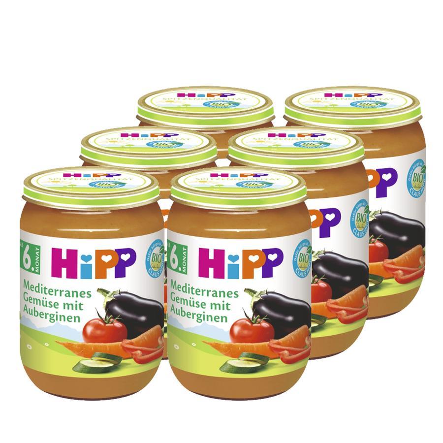 HiPP Bio Mediterranes Gemüse mit Aubergine 6 x 190 g