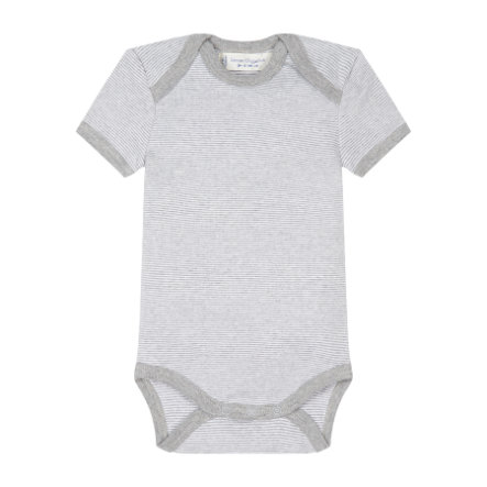 SENSE ORGANICS Baby Body YVON pinny stripes grey marl