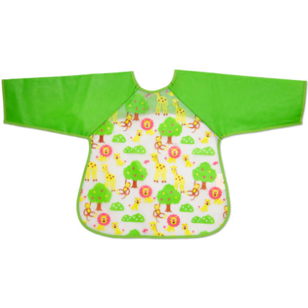 FILLIKID Sleeved Bib, green sleeves, 2 pieces