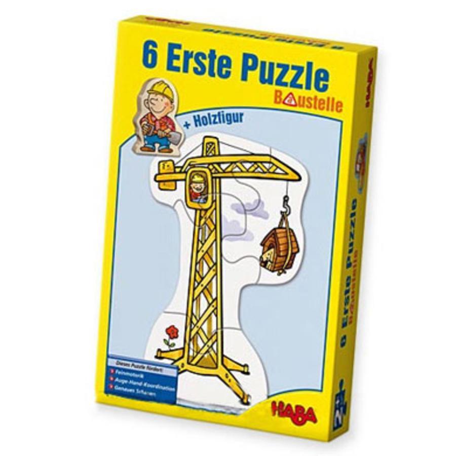 HABA 6 Første puslespil byggeplads