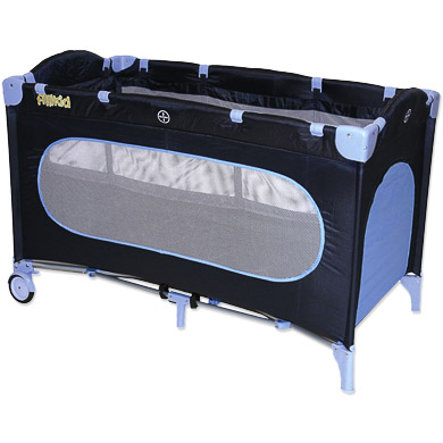 FILLIKID Travel Bed / Cot with Bassinet and Bag Navy/Light Blue 4028-82