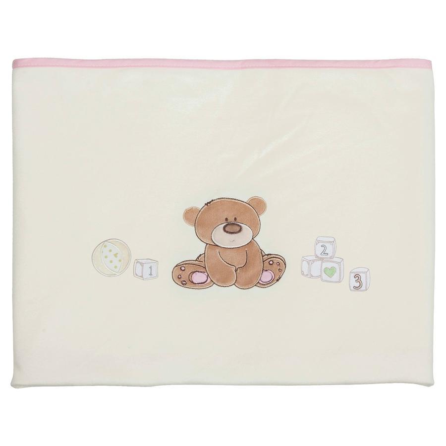 FILLIKID Babydeken Jersey Speelbeer roze