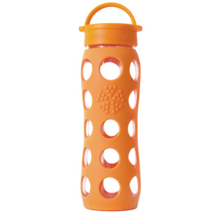 "LIFEFACTORY Vattenflaska Glas ""orange"" 650ml"