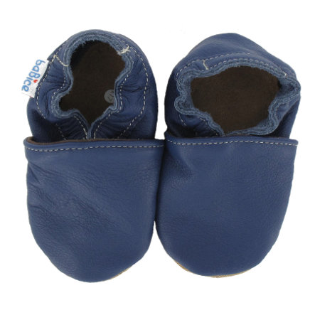 BaBice Chaussons bébé UNI bleu