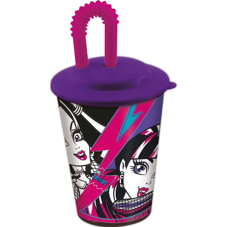 p:os Trinkbecher mit Strohhalm - Monster High