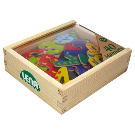 LENA® Holz Magnet Zahlen
