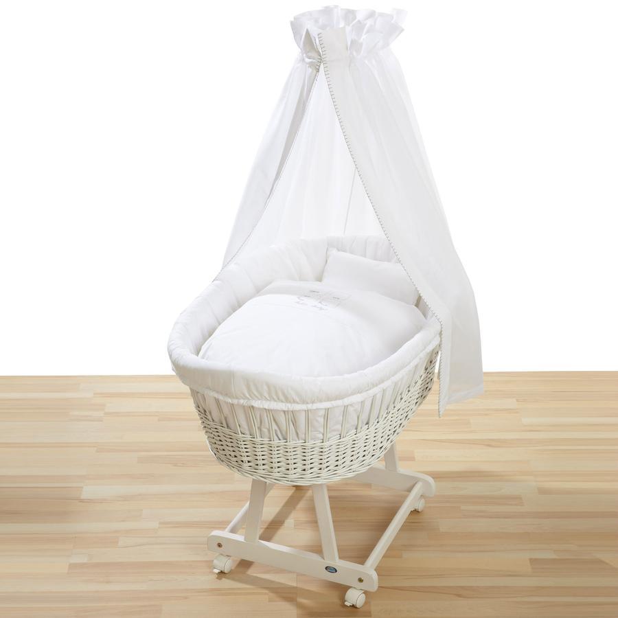 ALVI Koszyk wiklinowy Brithe z zestawem Hello Baby 321-0 kolor biały