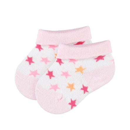 s.OLIVER Chaussettes bébé, boîte en forme de cœur, rose
