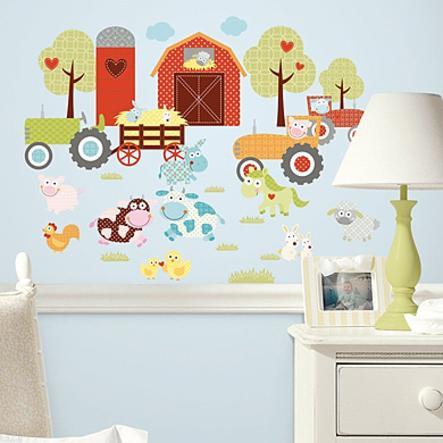 ROOMMATES Naklejki ozdobne na ścianę Mała farma