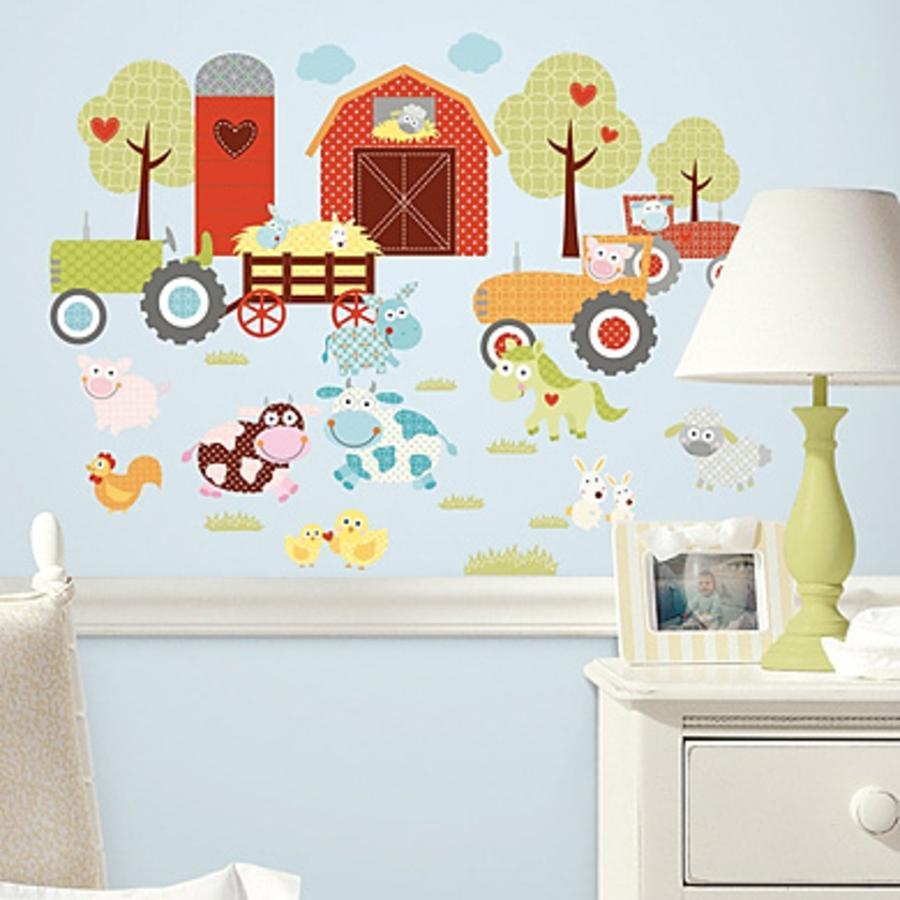 RoomMates® Wandsticker Tiere auf dem Bauernhof