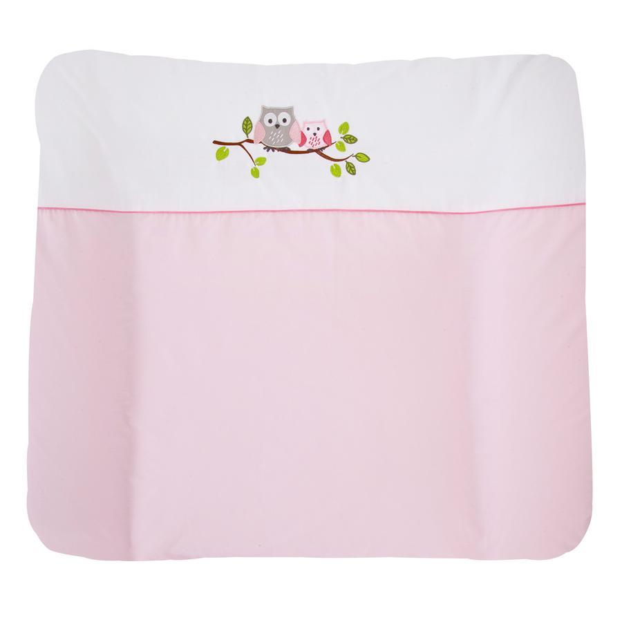 JULIUS ZÖLLNER Wickelauflage kleine Eulen rosa