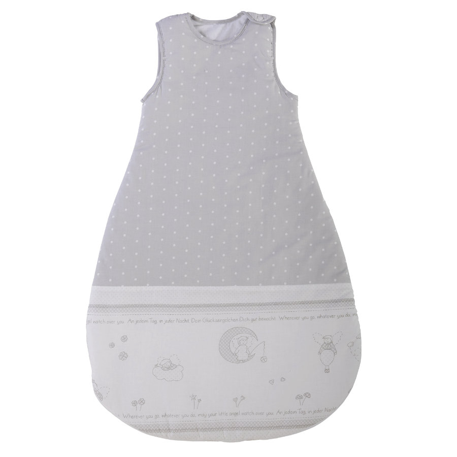 ROBA Schlafsack 90 cm, Glücksengel grau