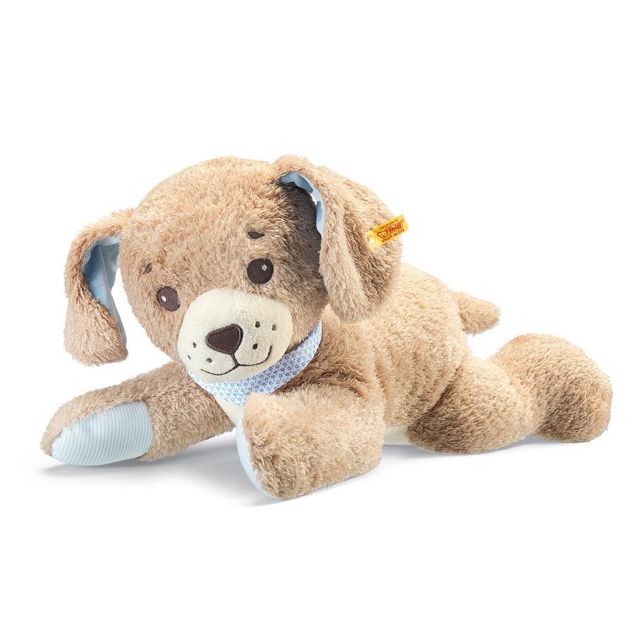 STEIFF Chien bonne nuit, couché, beige, 48 cm