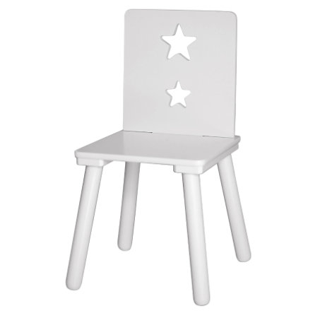 KIDS CONCEPT Židle, hvězda, bílá
