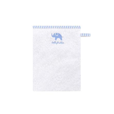 BELLYBUTTON Tvättlapp  vit/ljusblå