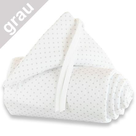 TOBI BABYBAY Protector de cuna Maxi puntos/gris perla