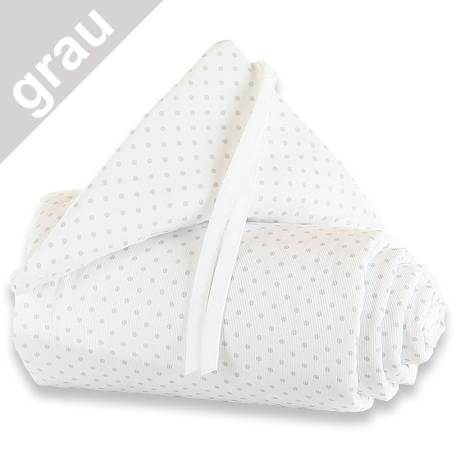 babybay Nestchen Maxi Punkte perlgrau