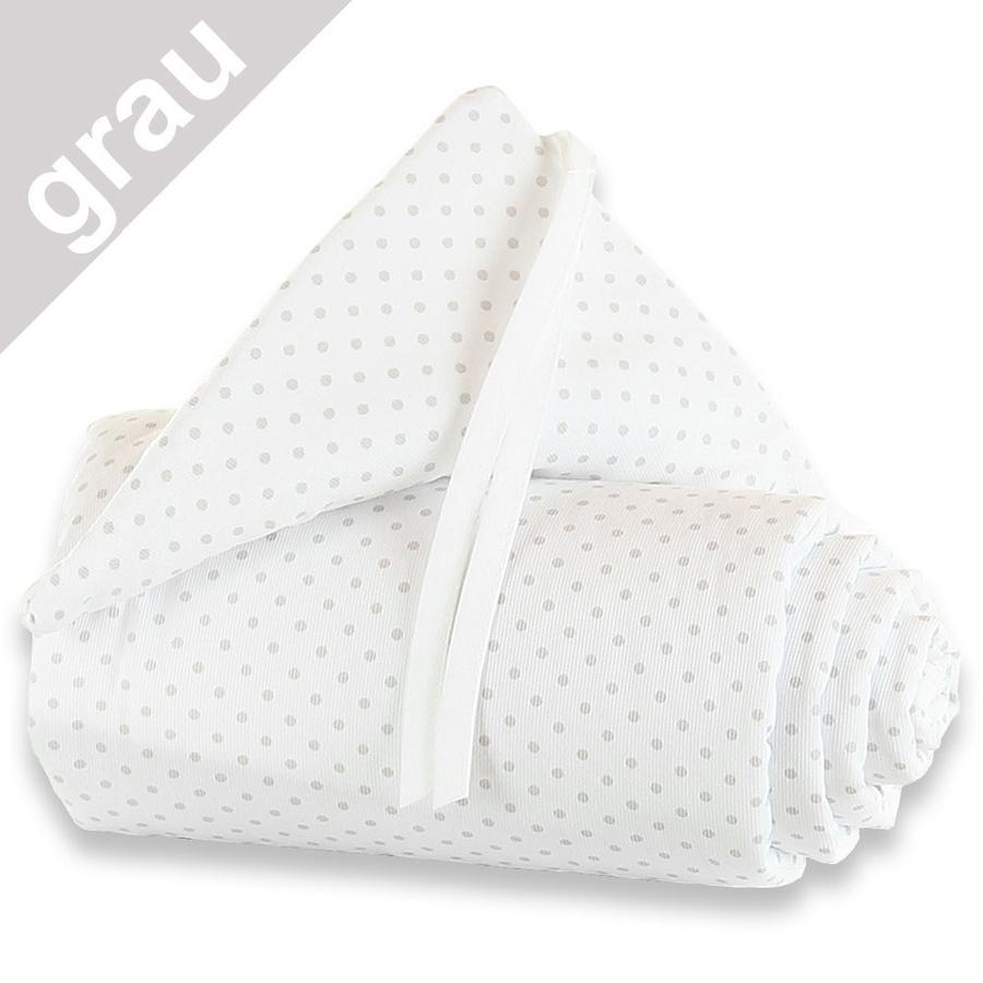 babybay Nestchen Piqué Maxi Punkte perlgrau 168 x 24 cm