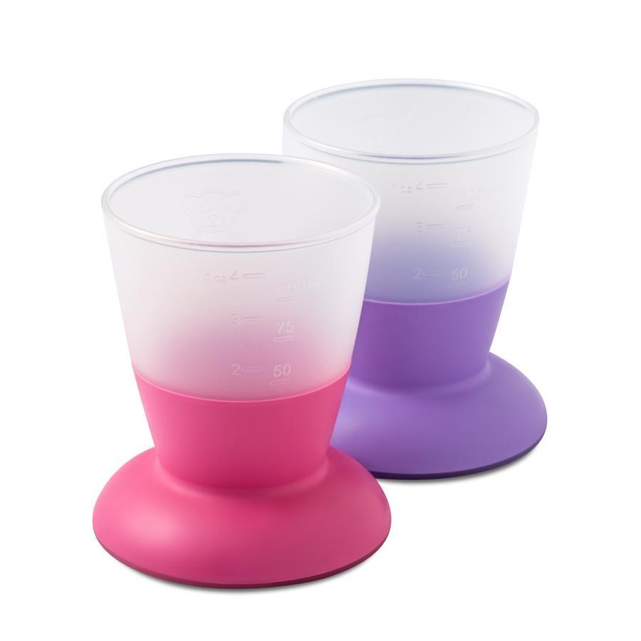 BABYBJÖRN Lot de 2 gobelets, rose/violet