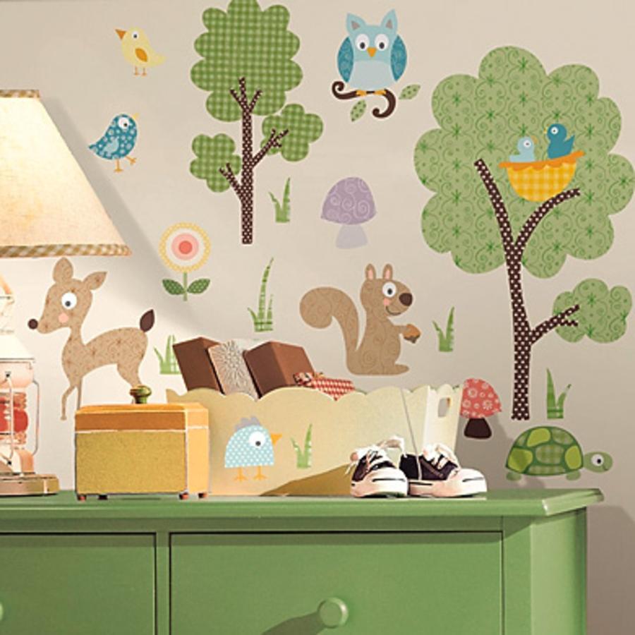 ROOMMATES Naklejki ozdobne na ścianę Zwierzątka leśne