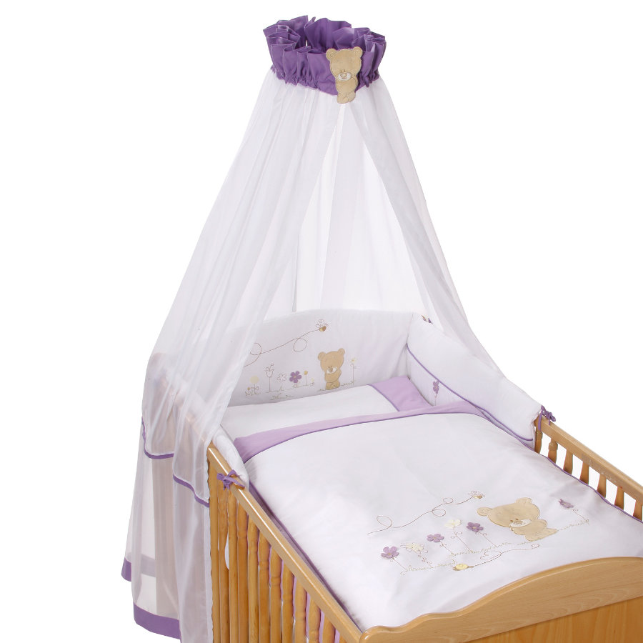 Easy Baby Set Completo per Lettino Honey Bear lila (400-40)