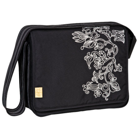 LÄSSIG Wickeltasche Casual Messenger Bag Flornament black