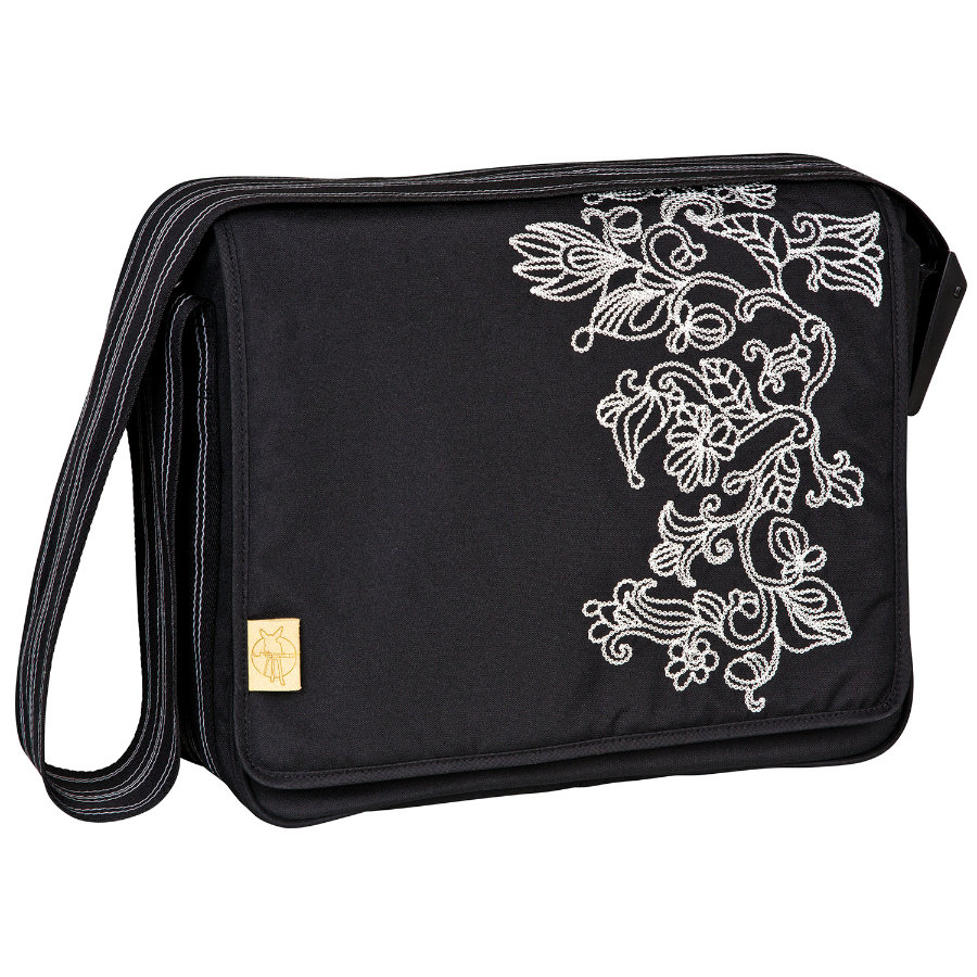 LÄSSIG Casual Messenger Bag Flornament black