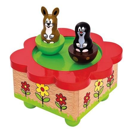 Dřevěná hrací skříňka BINO - Krteček