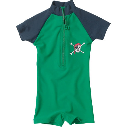 PLAYSHOES Boys Strój kąpielowy jednoczęściowy PIRAT kolor zielony