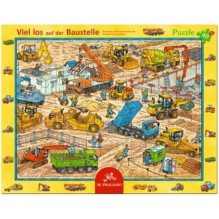 COPPENRATH Puzzle v rámu - Ruch na staveništi (40 dílů)