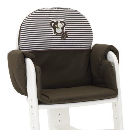 HERLAG Polstrování do jídelní židličky Tipp Topp IV hnědo/modro-bílé pruhy