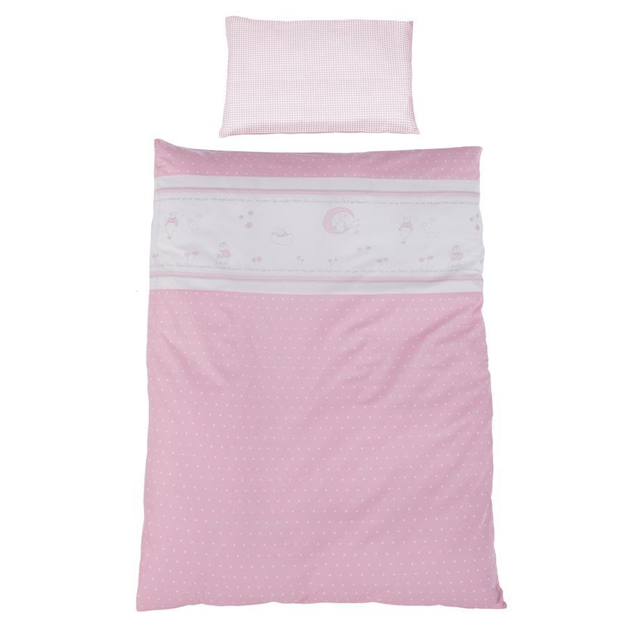 roba bettw sche 2 teilig 100x135cm gl cksengel rosa baby. Black Bedroom Furniture Sets. Home Design Ideas