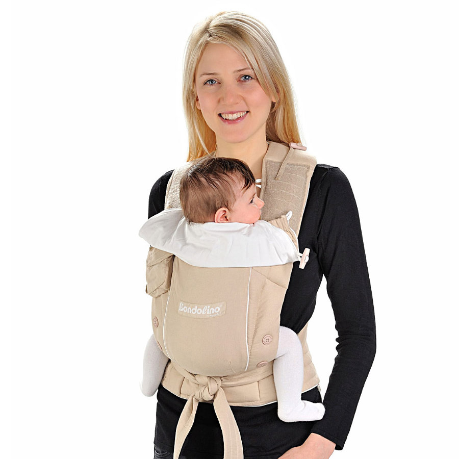 HOPPEDIZ Baby Carrier Bondolino Light Quality sand-cream